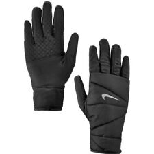 NIKE Quilted Run Gloves Women's Size XS - Black/Silver