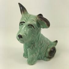 """More details for vintage sylac monty the mongrel dog green no. 1118 1940s 6.75"""" high"""