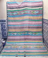"Vintage Moroccan Old Handmade Kilim Rug Wool Tribal Carpet azilal 9' x 6'2"""