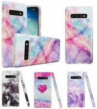 Samsung Galaxy S10e S10 + Plus - Hard TPU Rubber Case Cover Marble Stone Pattern