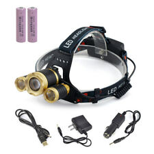 1800 Lumen Bright Headlight Headlamp Flashlight Torch T6 led for Camping Hunting