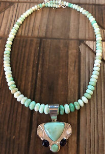 JAY KING Green Opal & Amethyst Pendant Necklace, Sterling Silver
