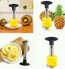 PINEAPPLE Silver Peeler Corer Slicer Cutter Fruit Apple Kitchen Utensil Gadget