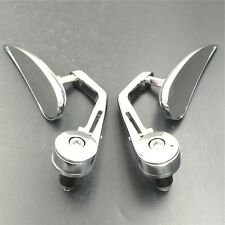 "Chromed mirror fit Honda/Suzuki/Kawasaki/Yamaha/Harley 022 1"" diameter handle"
