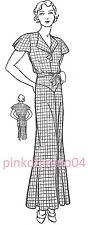 1930s Lounging Pyjamas Pajamas Pattern, Bust 32 inches