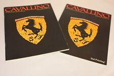 """CAVALLINO """"#1"""" Magazine 1978 #1 Original Issue Ferrari Magazine & #1 Reprint"""
