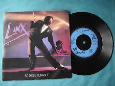 "Linx - So This Is Romance. 7"" vinyl single (7v2127)"
