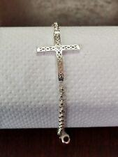 sterling silver sideways cross bracelet!!