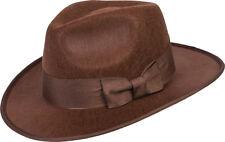 Adult Brown 1940s Adventurer Fedora Hat Fancy Dress Indiana Jones Accessory