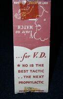 Venereal Disease VD vintage 1930s/40s Matchbook Cover