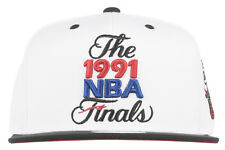 Mitchell and Ness Chicago Bulls 1991 NBA Finals Snapback Hat Headwear Mens White