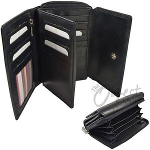 RFID London Leather Goods Purse Zip Round Compact Flap & Cards Notes Coin Pocket