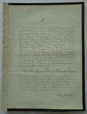 Aime Marie Gaspard DUC DE CLERMONT TONNERRE FAIRE PART deces 1865