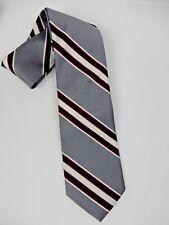 Briar Pride of England Tie Grey Diagonal Striped Necktie