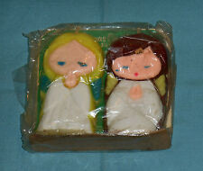 vintage Christmas SUNI ANGEL CANDLES in sealed package