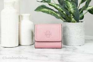 Tory Burch (73133) Thea Pebbled Leather Pink Magnolia Mini Wallet Coin Pouch