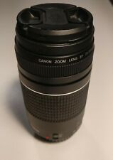 CANON Zoom EF 75-300mm 1:4-5.6 III  Camera Lens great condition + Tiffen 58mm ND