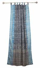 "108""L GRAY TURQUOISE Curtain SARI Curtain Bohemian Window Curtain bed canopy"