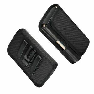 for LG Q10 Metal Belt Clip Holster with Card Holder in Textile and Leather