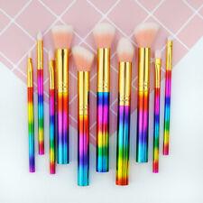 Pro 10Pcs Makeup Brushes Tools Eyebrow Shadow Face Lip Brush Kabuki Makeup Brush