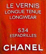 chanel nail polish 534 ESPADRILLES rare limited edition