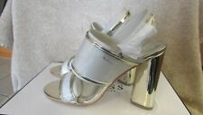Guess Ladies Gold LL Amidala Shoes - Clear with Gold Trim - Size 8M