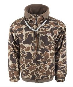 Drake Waterfowl MST Fleece Lined Full Zip Jacket Size SMALL Water & Wind Proof