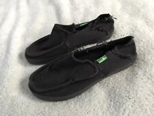 SANUK Youth Boys/Girls Casual Distressed Black Shoe Sz (see dimensions) SC