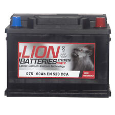Lion Batteries Car Battery 12V 60Ah Type 075 520CCA Sealed 3 Years Warranty
