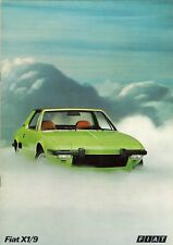 Fiat X1/9 1300 Early-Mid 1970s Belgian & Dutch Market Sales Brochure