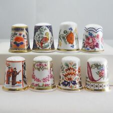 8 Royal Worcester china thimbles Historic Patterns Through the Ages, 1993, lot 3