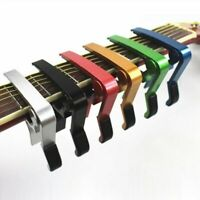 1) Quick Change Acoustic Electric Guitar Capo Trigger with Holder USA SELLER