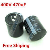 Electrolytic Capacitor 470uF 470 UF 400V 35 * 50 mm Free Shipping High Quality