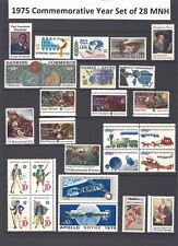 1975 Commemorative Year Set of 28 MNH Stamps