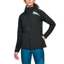 Under Armour женские trektic куртка верх черный спорт на открытом воздухе с капюшоном водонепроницаемый