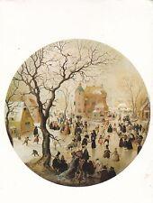 Hendrick Avercamp A Winter scene with skaters Postcard used