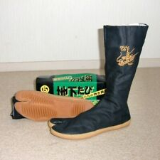 "Japanese Tabi Boots Ninja Shoes Marugo "" Dragon "" 15K Black 27 cm"