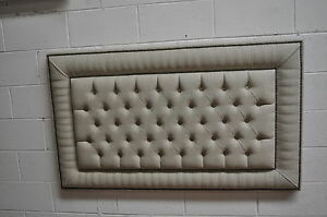 """⚽  MODERN HEADBOARD DEEP BUTTONS HEIGHT 36""""  WITH DECORATIVE NAILS FABRIC BOSTON"""