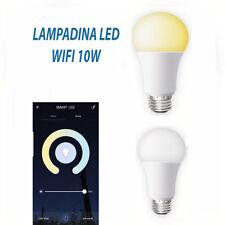 LAMPADINA SMART LED WIFI E27 10W 2700 6400K DIMMERABILE IOS ANDROID ALEXA GOOGLE