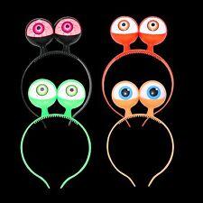 4x LED Flashing Eyes With Headband - Kids Spooky Alien Halloween Fancy Dress
