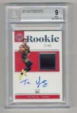 TRAE YOUNG 2018-19 PANINI ENCASED #201 AUTO AUTOGRAPH JERSEY RC 22/99 BGS 9 10