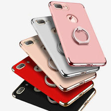 Ultra Thin Hybrid Protective Hard Ring Phone Cover Case for Apple iPhone 7 Black