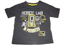 Tolles T-Shirt Gr. 74 anthrazit mit Roboter Motiv !!