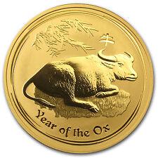 2009 1 oz Gold Australian Perth Mint Lunar Year of the Ox Coin - SKU #43919