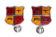 ETRO Shield Cuff links Red & Yellow Enamel