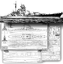"1/200 Plans for German Battleship ""Bismarck"""