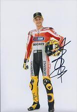 VALENTINO ROSSI Autograph SIGNED DUCATI 12x8 Photo AFTAL COA Portrait Champion