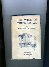THE WIND IN THE WILLOWS-GRAHAME-1931-1ST ILLUSTRATED SHEPARD ED-RARE DJ, VG+