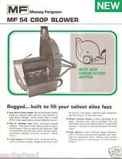 Farm Equipment Brochure - Massey Ferguson - MF 54 - Crop Blower - 1973 (F1263)