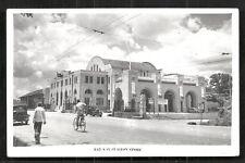 Singapore photo postcard Tanjong Pagar Railway Station 40s